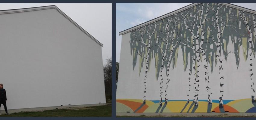 vægmaleri. gavlmaleri, projekter, dekoRum, før og efter, vægudsmykning,