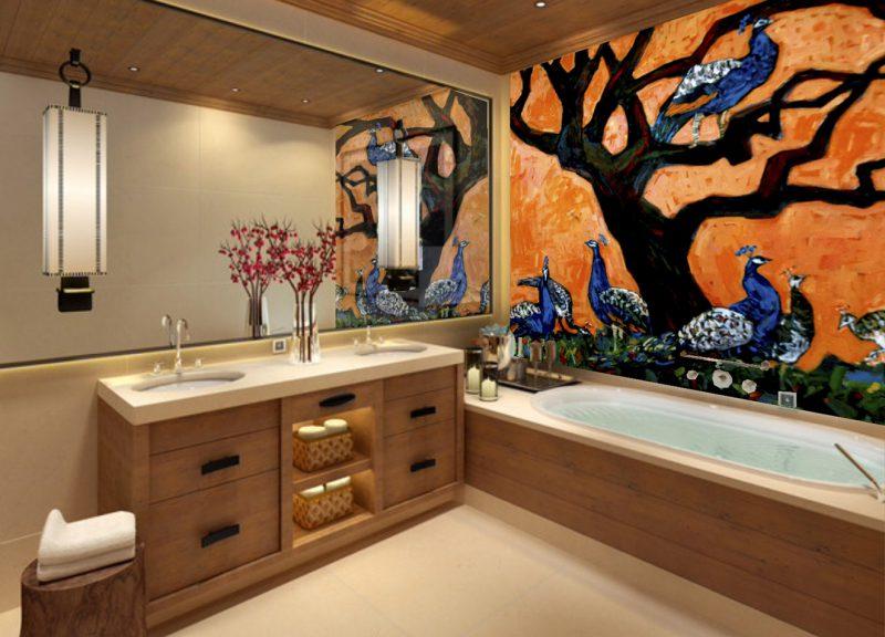 Forlæng din feriestemning derhjemme med flot vægmaleri