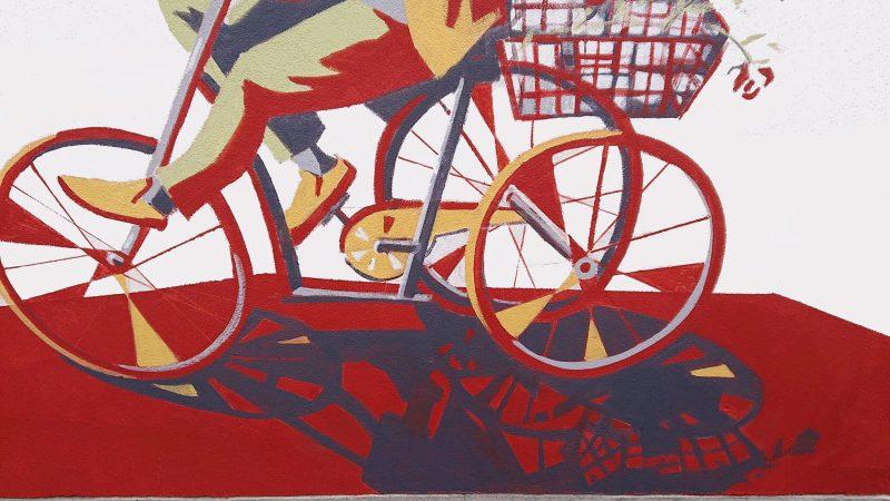 Xenia Michaelsen vægmaleri cykel